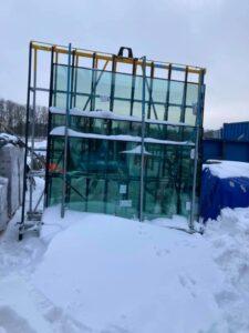 sneeuw glas